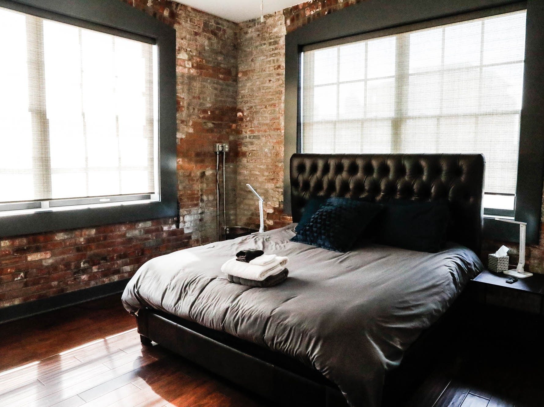 "The ""Naptown Rooftop Penthouse,"" located inside the Blumlux Diamond Building, 740 E. North Street, Indianapolis Ind., is available for short term Airbnb rental, Monday, March 11, 2019. www.rentalpreneur.com"