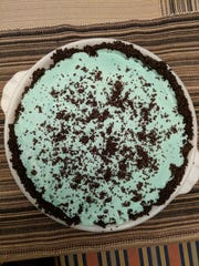 Grasshopper pie has a nice St. Patrick's Day greenness to it.