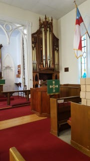 St. Mark's Episcopal Church will celebrate the restoration of its 19th-century pipe organ with a dedication service and organ recital program on March 24.