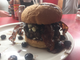 One burger option at Inskip Grill is The Bearden Hill, a burger topped with blue cheese, blueberry preserves and bacon.