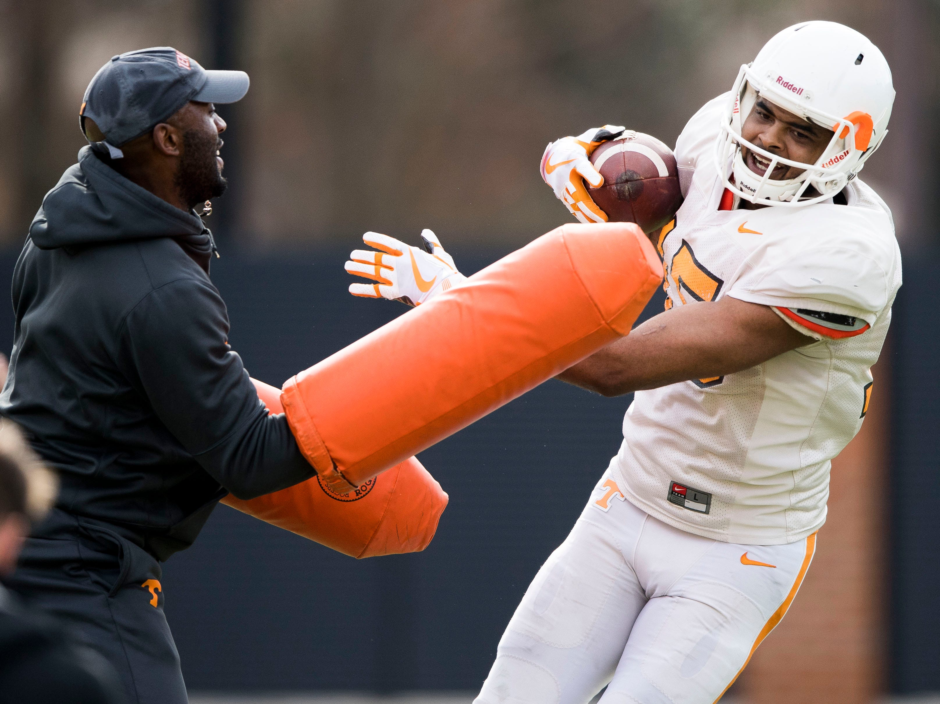 Tennessee wide receiver Jauan Jennings (15) during Tennessee's afternoon football practice on Monday, March 11, 2019.