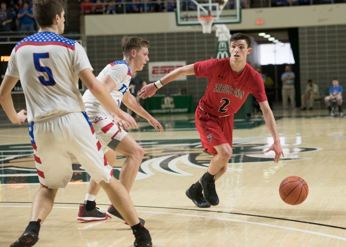 Chillicothe's Zane Trace defeated Lancaster's Fairfield Union Sunday night in a Division II district final game at Ohio University's Convocation Center in Athens, Ohio, on March 10, 2019.