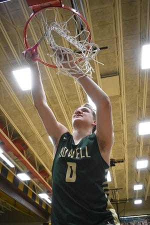 Josh Palo got to cut down the nets after Howell won the regional basketball championship, but said 'we're not satisfied yet' heading into the state quarterfinals.