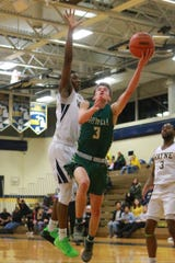 Kip French (3), whose brother played on Howell's 2014 regional championship team, played a key role on both ends of the court to help the Highlanders return to the state quarterfinals.