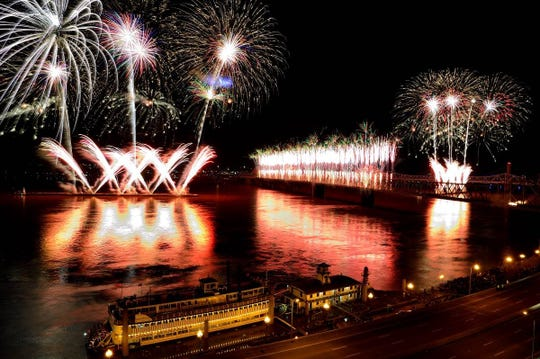 Thunder Over Louisville offers a breathtaking fireworks display.