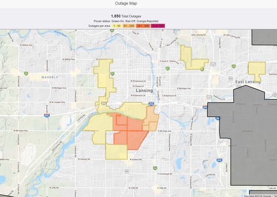 Bwl Power Outage Map Power restored to 1,800 BWL customers after vehicle crashes into pole