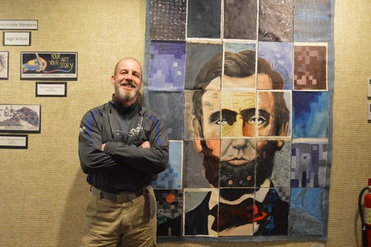 Mural created by Manitowoc Lincoln High School IB Art students.