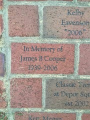 In 2006, residents purchased bricks as part of a fundraising effort to build the Playground of Dreams. The brick walkway will remain there.
