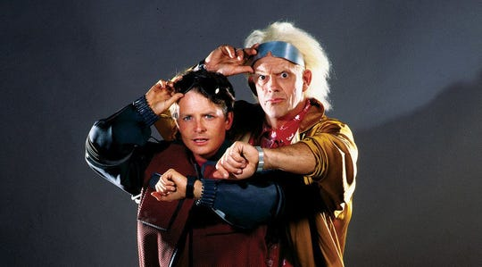 """If you're ready to go """"Back to the Future"""" with Michael J. Fox and Christopher Lloyd, get to the Summer Quartet Drive-in on Saturday night."""