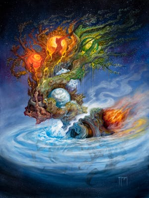 """MidSouthCon Artist Guest of Honor Sam Flegal created this image of a """"world tree."""""""