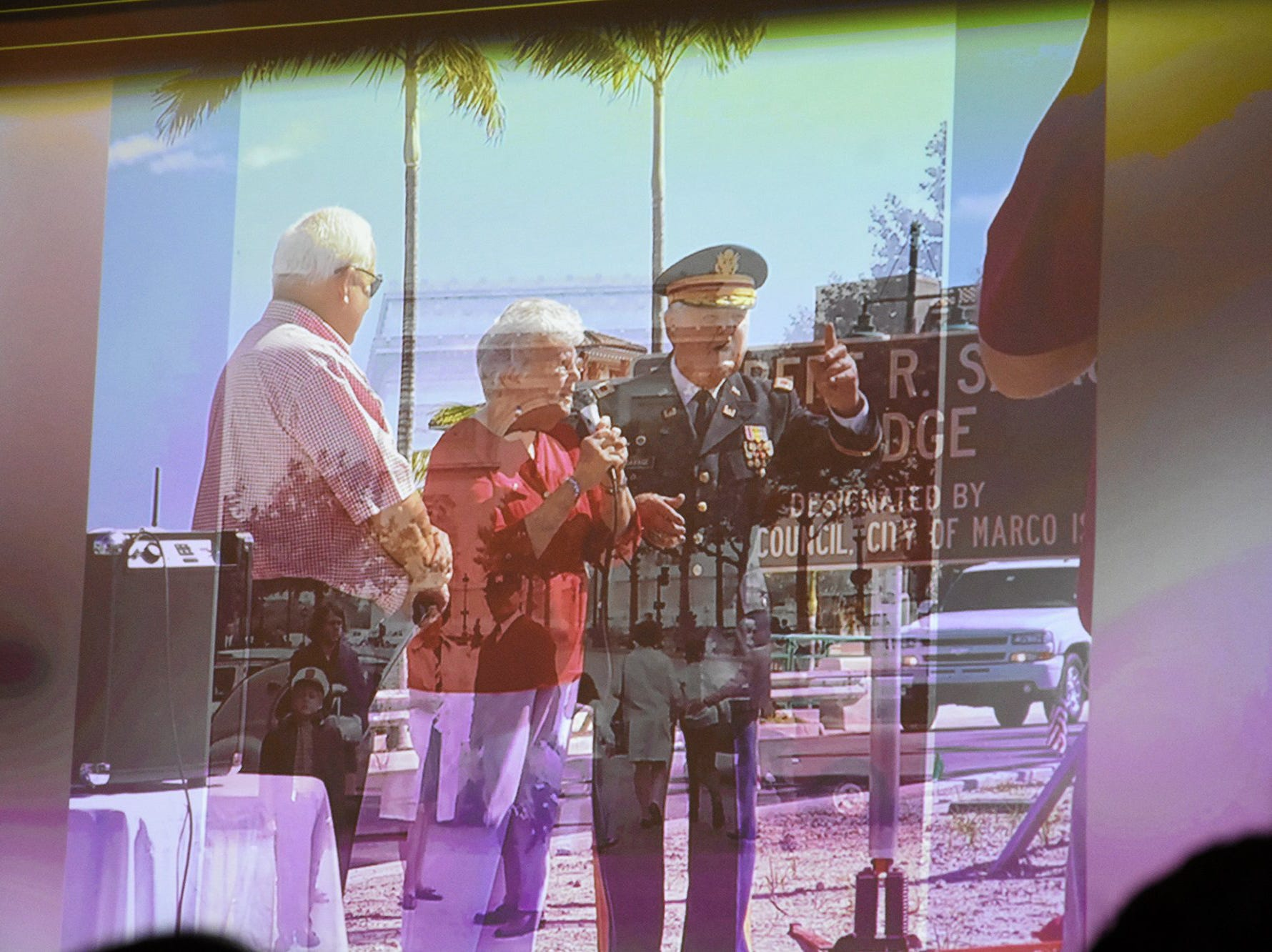 Images from a video of Herb and Emily Savage's life. The life of iconic island architect Herb Savage was celebrated in a ceremony Sunday afternoon at the Rose History Auditorium, with military honors and reminisces from family and friends.