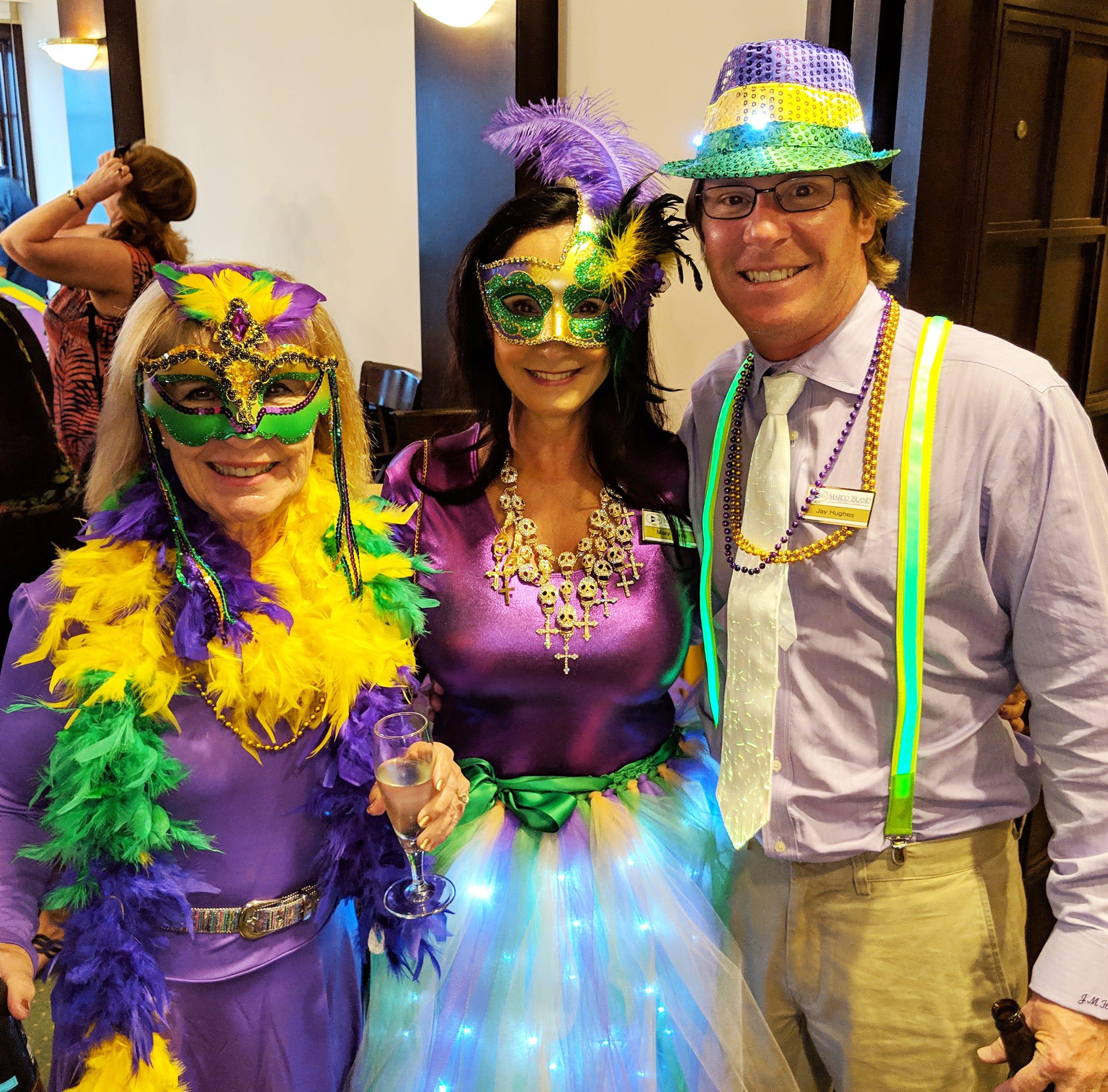 Social Scene: Marco Island Yacht Club holds Mardi Gras carnival celebration