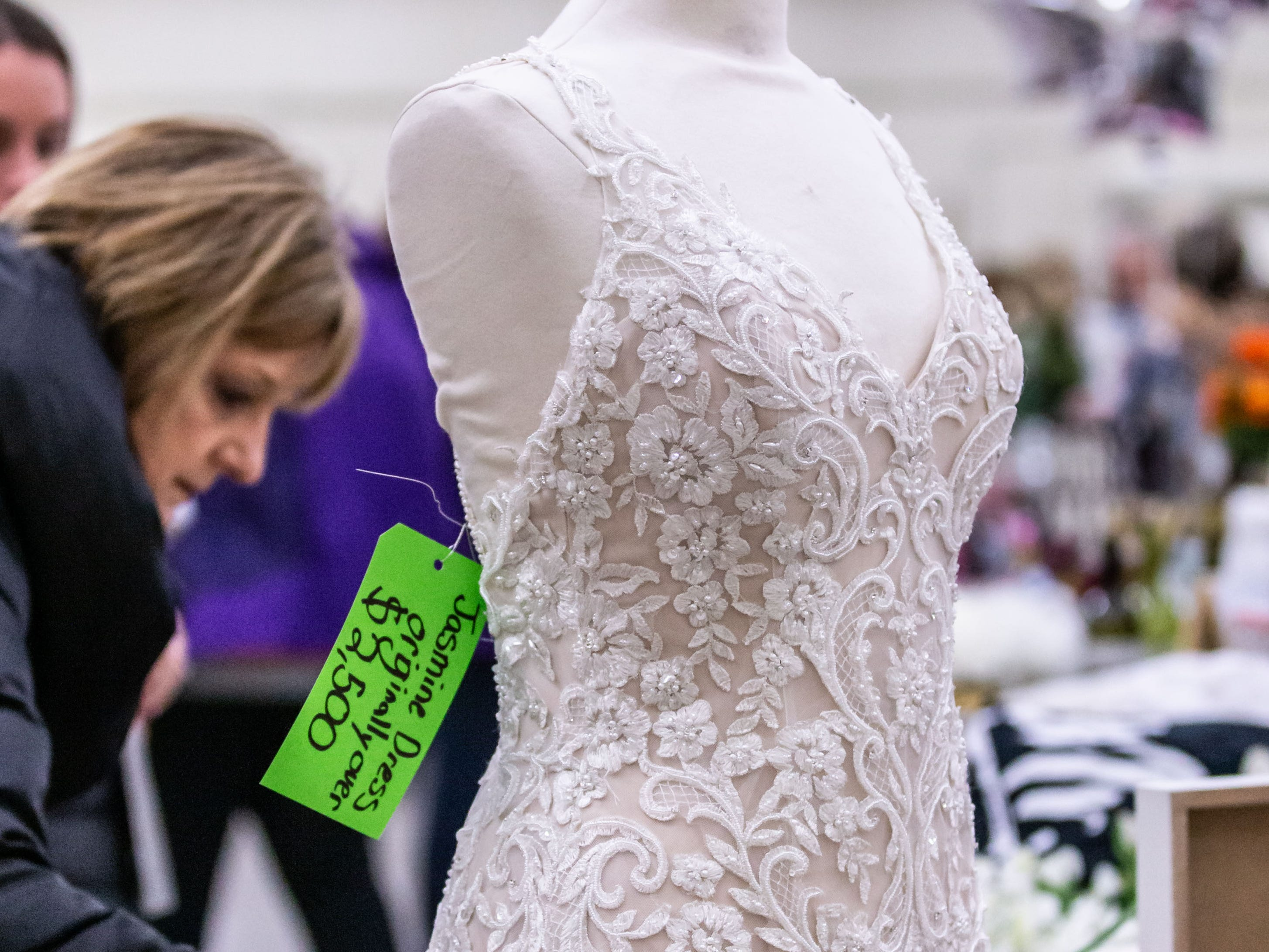 Gently used wedding decor, dresses, attire and other wedding related items were available for a significant discount during The Original Bridal-Wedding Decor Re-Sale hosted by Rustic Manor 1848 at the Waukesha County Expo Center on Sunday, March 10, 2019.