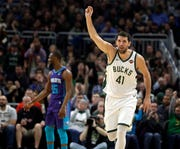 Nikola  Mirotic is averaging 11.6 points in 21.9 minutes per game and making 39.1 percent of his three-pointers since joining the Bucks