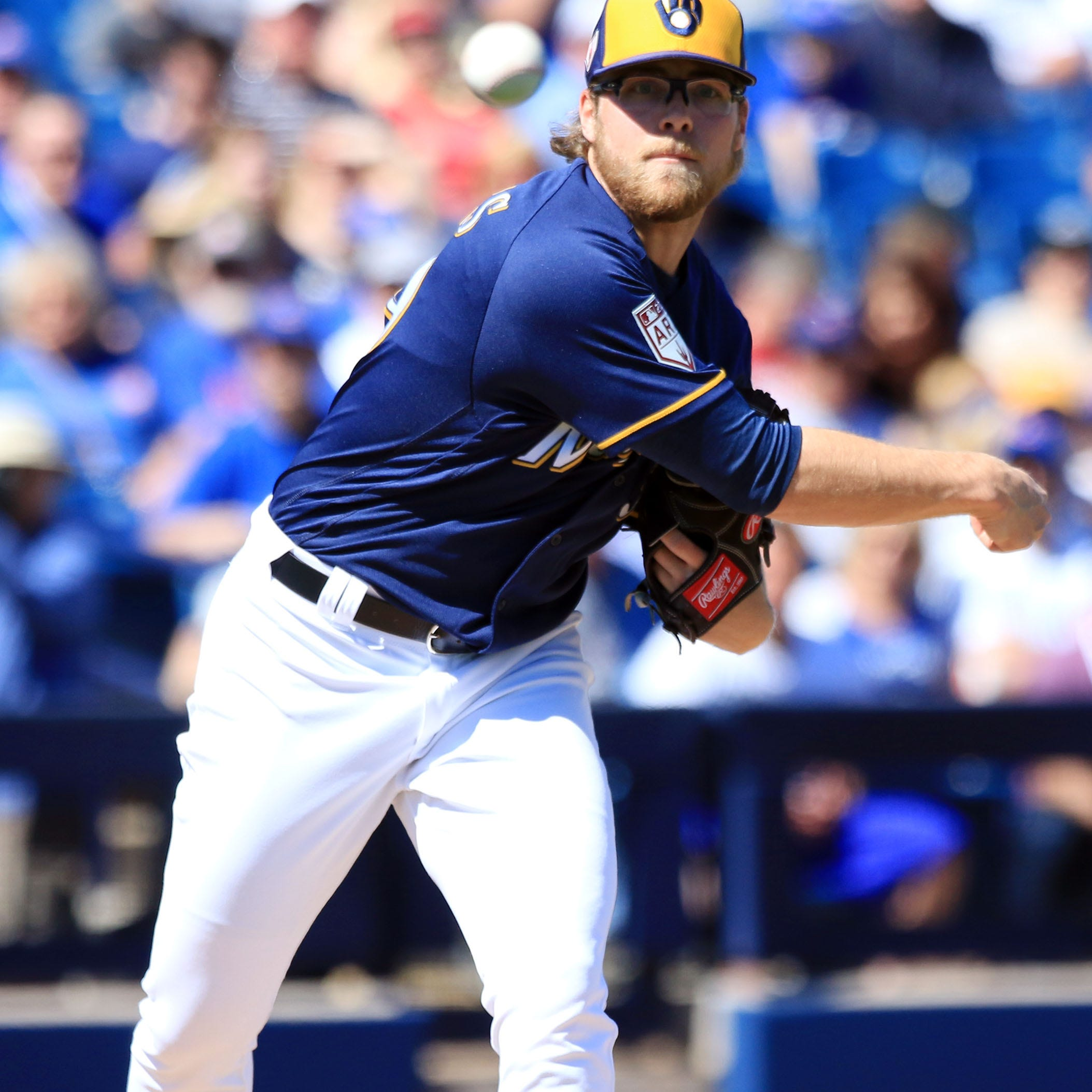 Peralta, Woodruff, Burnes and Davies fill out the Brewers' rotation, while Anderson moves to the bullpen