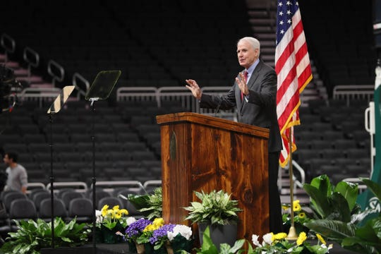 At  Milwaukee Mayor Tom Barrett State of the City Address at the Fiserv Forum he jokes about how this would be a great place to host the 2020 Democratic National Convention, but he had no news to share.  Less than an hour later it was announced Milwaukee would host the convention.