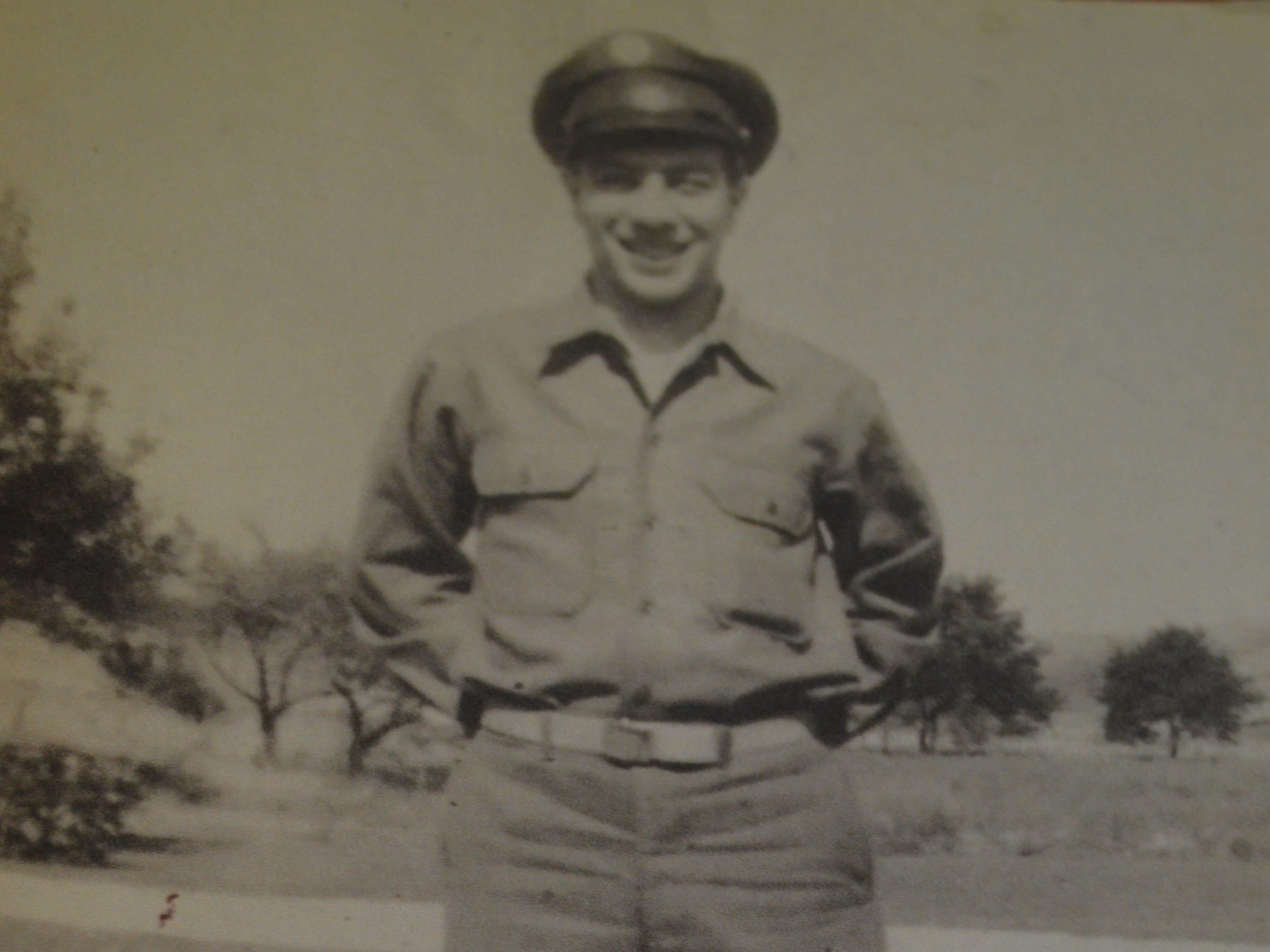 The late Simon Vitale, Karissa Vitale Adam's grandpa, joined the Army when he was 17.
