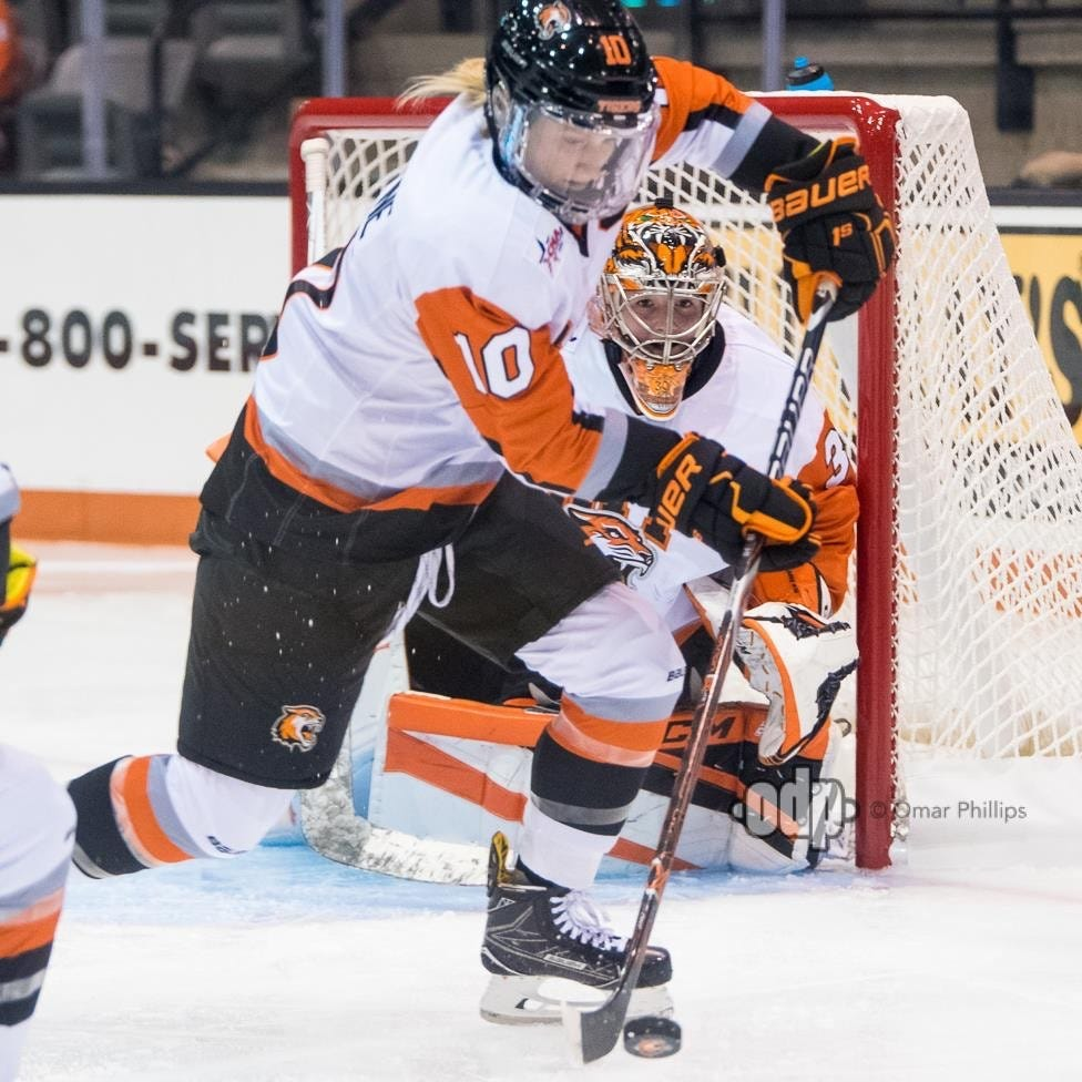 Kendall Cornine may start her pro hockey career before graduating from college