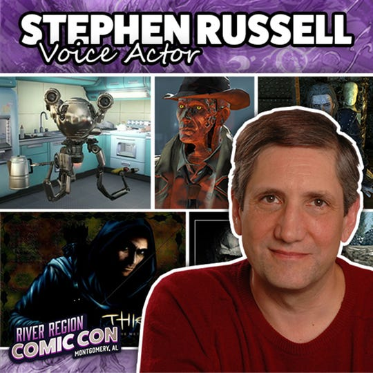 Voice actor Stephen Russell will be at the 2019 River Region Comic Con in Montgomery.