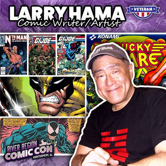 Comic writer and artist Larry Hama will be at the 2019 River Region Comic Con in Montgomery.