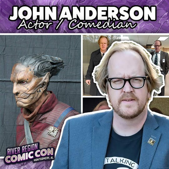 Actor and comedian John Anderson will be at the 2019 River Region Comic Con in Montgomery.