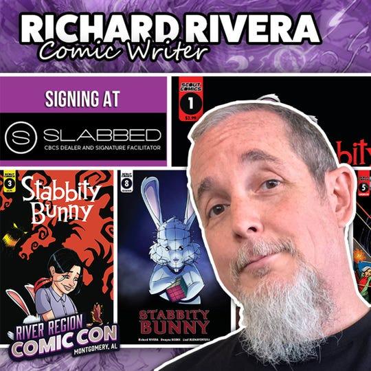 Comic writer Richard Rivera will be at the 2019 River Region Comic Con in Montgomery.