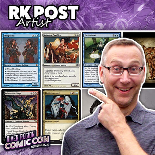 Artist RK Post will be at the 2019 River Region Comic Con in Montgomery.
