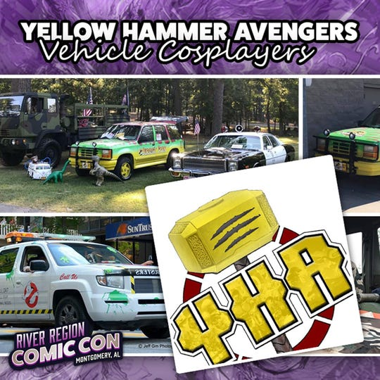 The Yellow Hammer Avengers vehicle cosplayers will be at the 2019 River Region Comic Con in Montgomery.