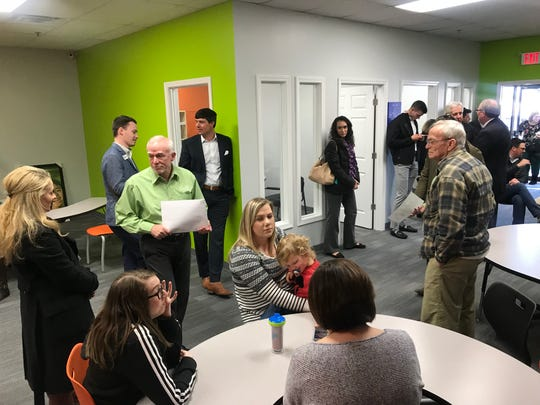 Visitors explore the new Sylvan Learning Center in Prattville during its ribbon-cutting ceremony.