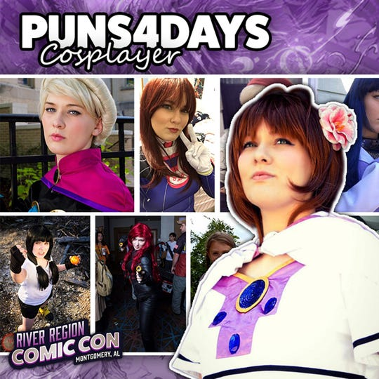 Cosplayer Puns4days will be at the 2019 River Region Comic Con in Montgomery.