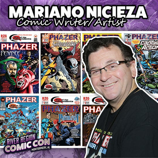 Comic writer and artist Mariano Nicieza will be at the 2019 River Region Comic Con in Montgomery.