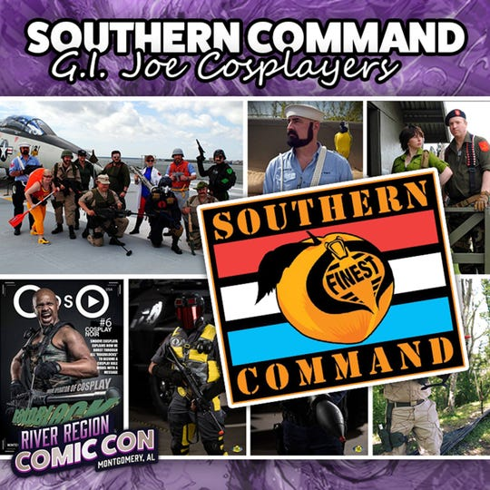 G.I. Joe cosplayers Southern Command will be at the 2019 River Region Comic Con in Montgomery.