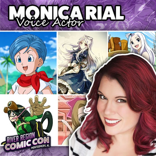 Voice actor Monica Rial will be at the 2019 River Region Comic Con in Montgomery.