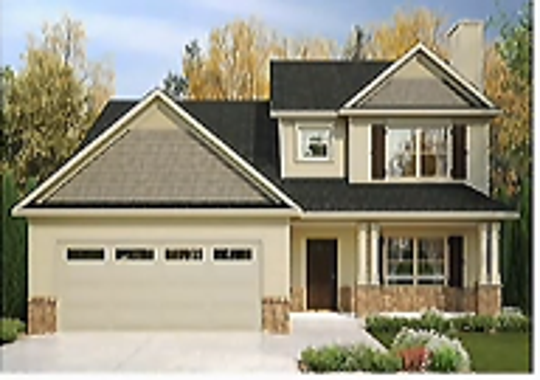This rendering shows one of the planned 350 single-family detached homes for the proposed Salem Springs Landing subdivision. The development also would include 120 town homes.
