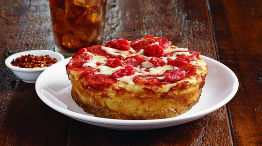 Get a mini one-topping pizza for $3.14, only on Thursday, at B.J.'s Brewhouse.