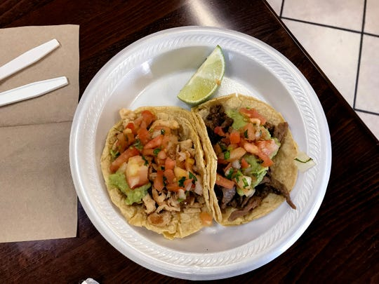 Ms. Cheap's favorite cheap lunch at Oscar's Taco Shop features two tacos — one chicken and one carne asada — for $6.03.
