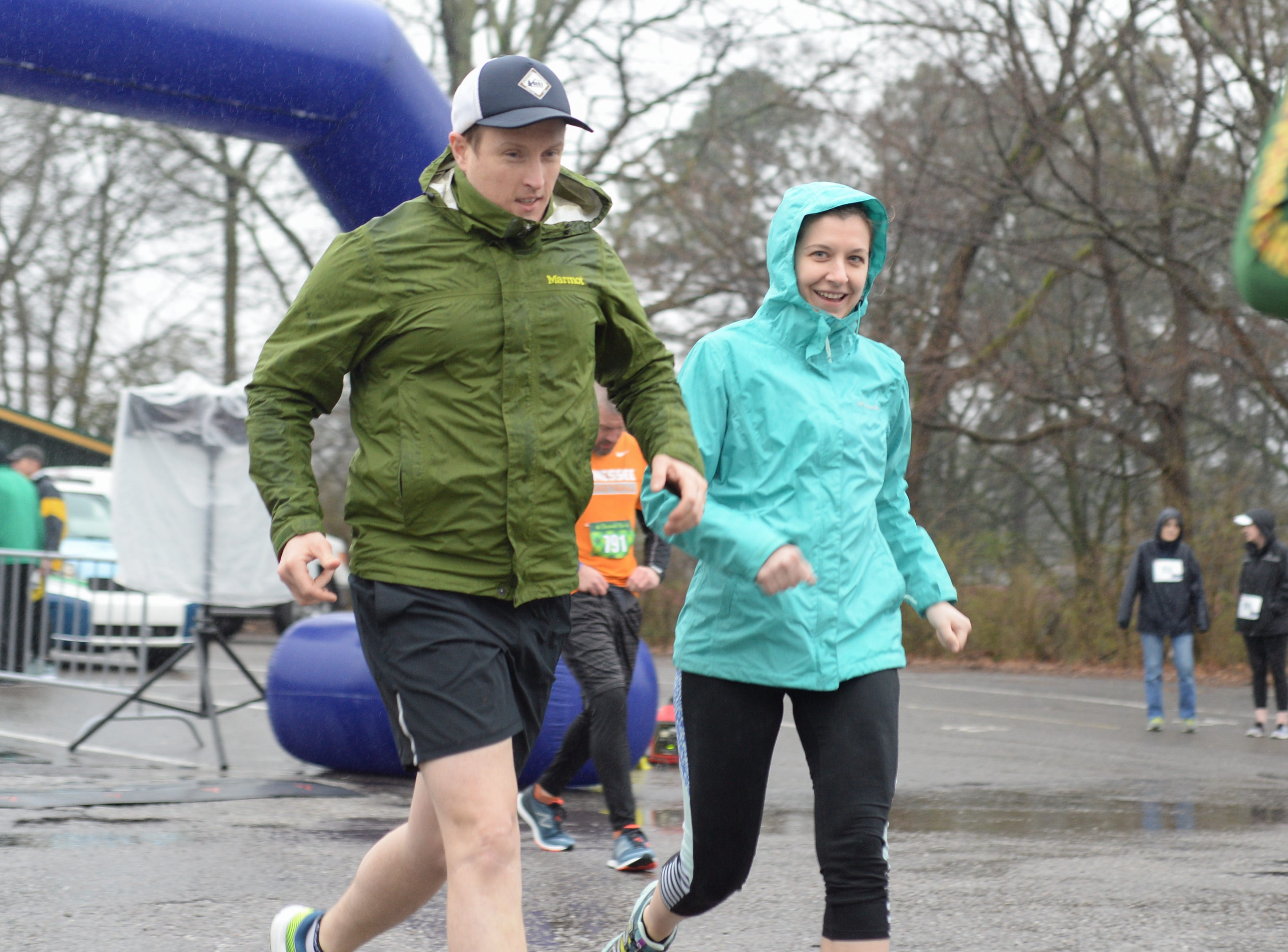 Participants brave the elements to participate in the Gallatin Shamrock Run on Saturday, March 9.