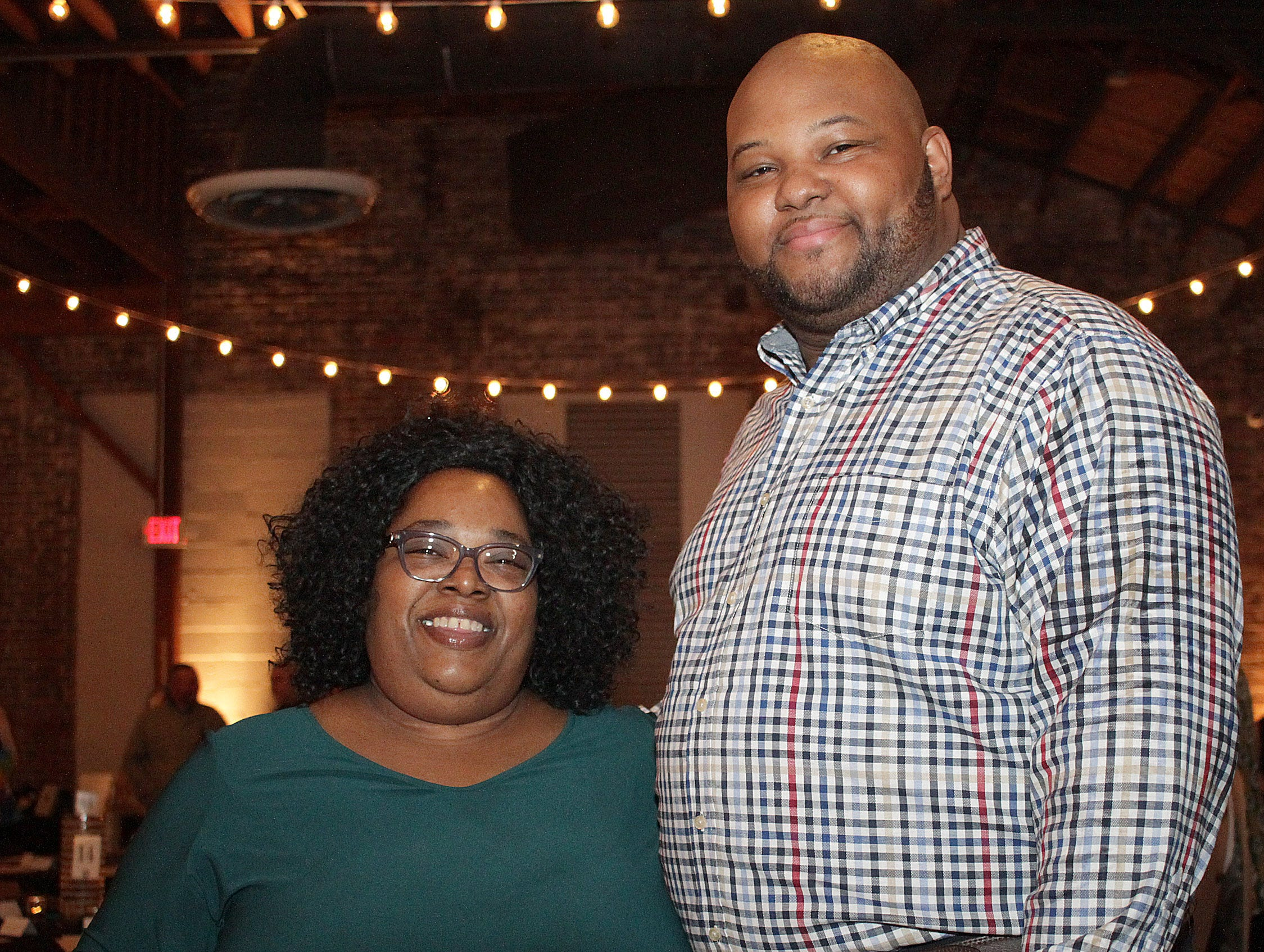 Alvita Halcomb and Steven Carter at the Green and Gold Gala benefitting Gallatin HIgh School on Saturday, March 9, 2019.