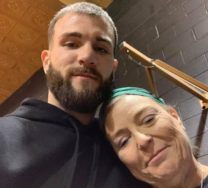 Caleb Plant with his mother, Beth Plant. Caleb posted this photo to Facebook after Beth was shot and killed by police in Cheatham County.