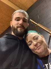 Caleb Plant with his mother, Beth Plant. Caleb posted this photo to Facebook after Beth was killed in an officer-involved shooting.