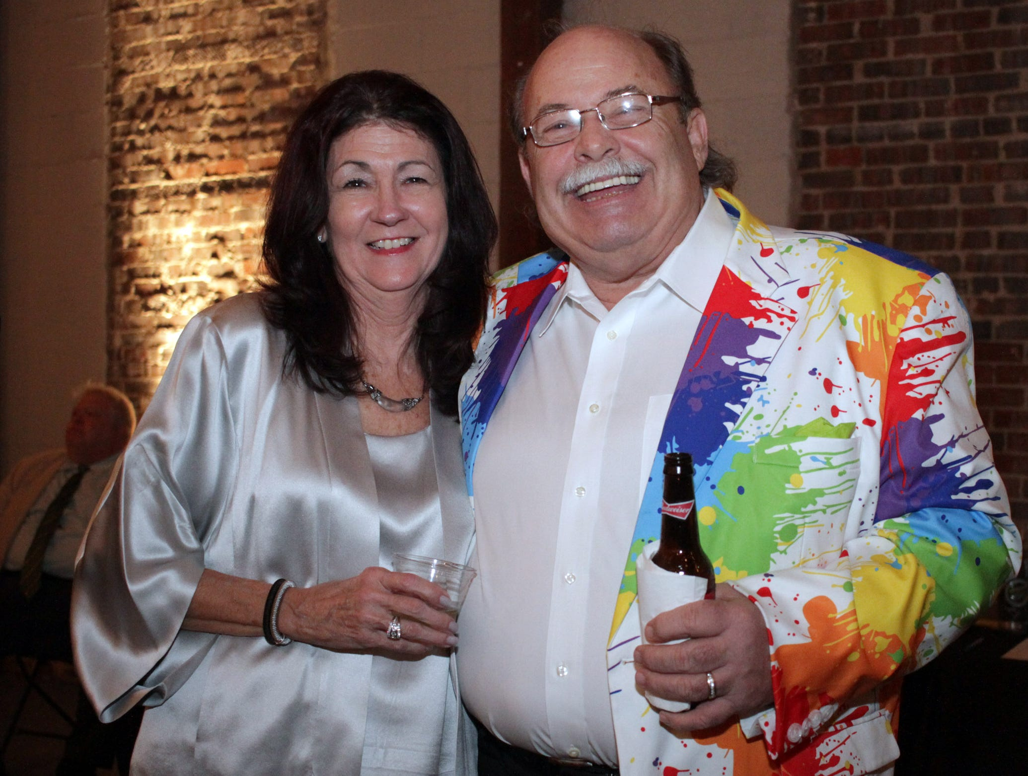 Barbara Zinser and Chris Chaplton at the Gold and Green Gala benefitting Gallatin High School on Saturday, March 9, 2019.