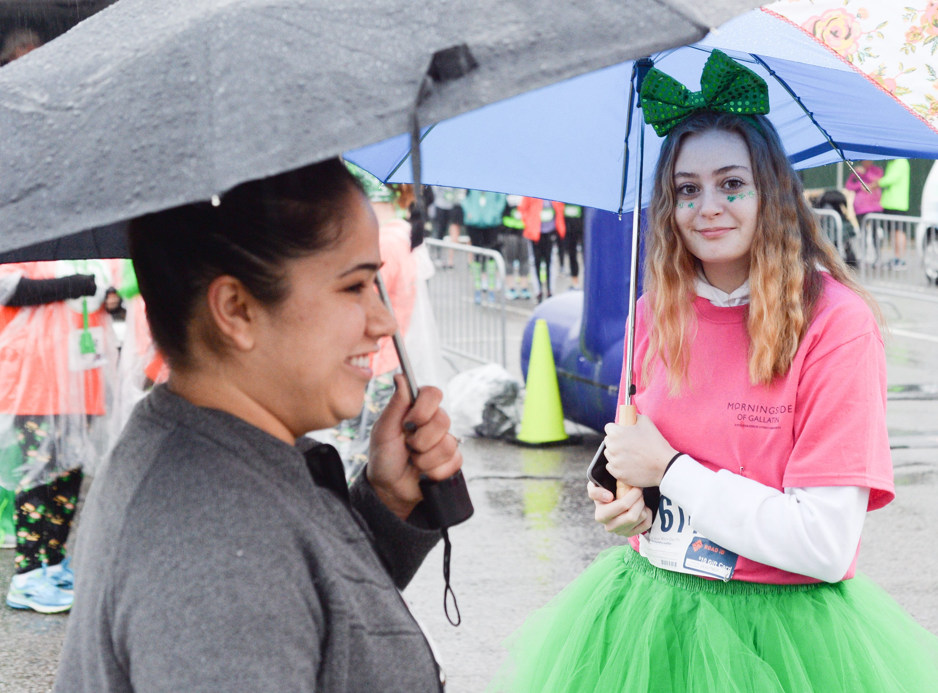 Participants braved the elements to participate in the Gallatin Shamrock Run on Saturday, March 9.