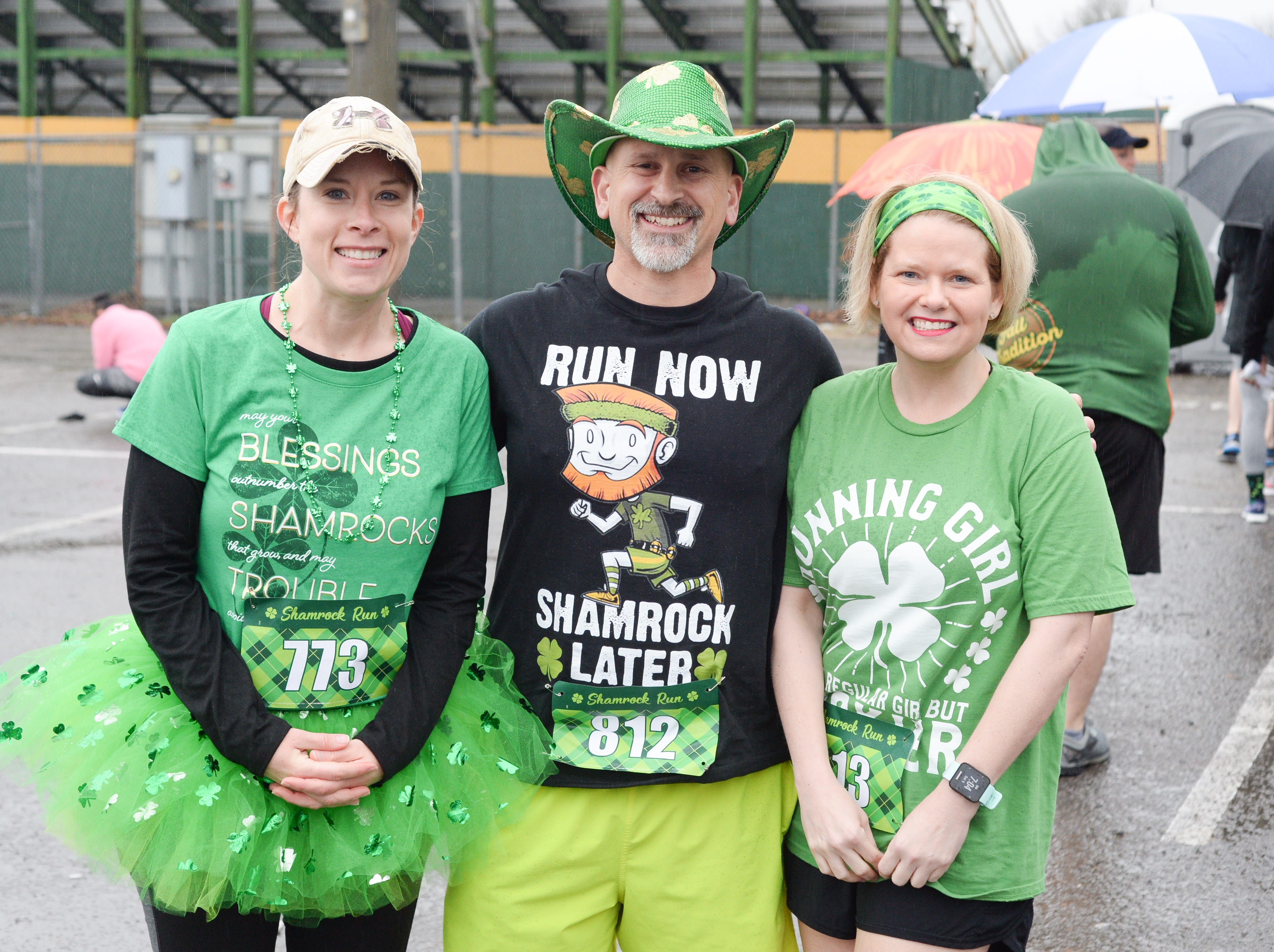 Bethany Dinwiddie, Seth and Stephanie Milstead are ready to take on the Gallatin Shamrock Run on Saturday, March 9.