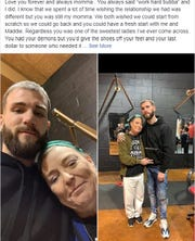 Caleb Plant posted a message about his mother on his Facebook page after she was killed in an officer-involved  shooting Sunday.