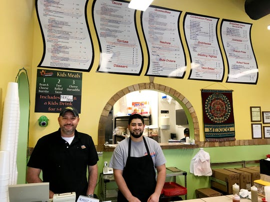 Javier Ruiz Jr. and his son Luis own and operate the Oscar's Taco Shop in Cool Springs.