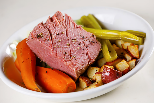 Chef Jeff Mitchell has crafted corned beef and cabbage to celebrate St. Patrick's Day at The Local in Bed Bath & Beyond Plaza in North Naples.
