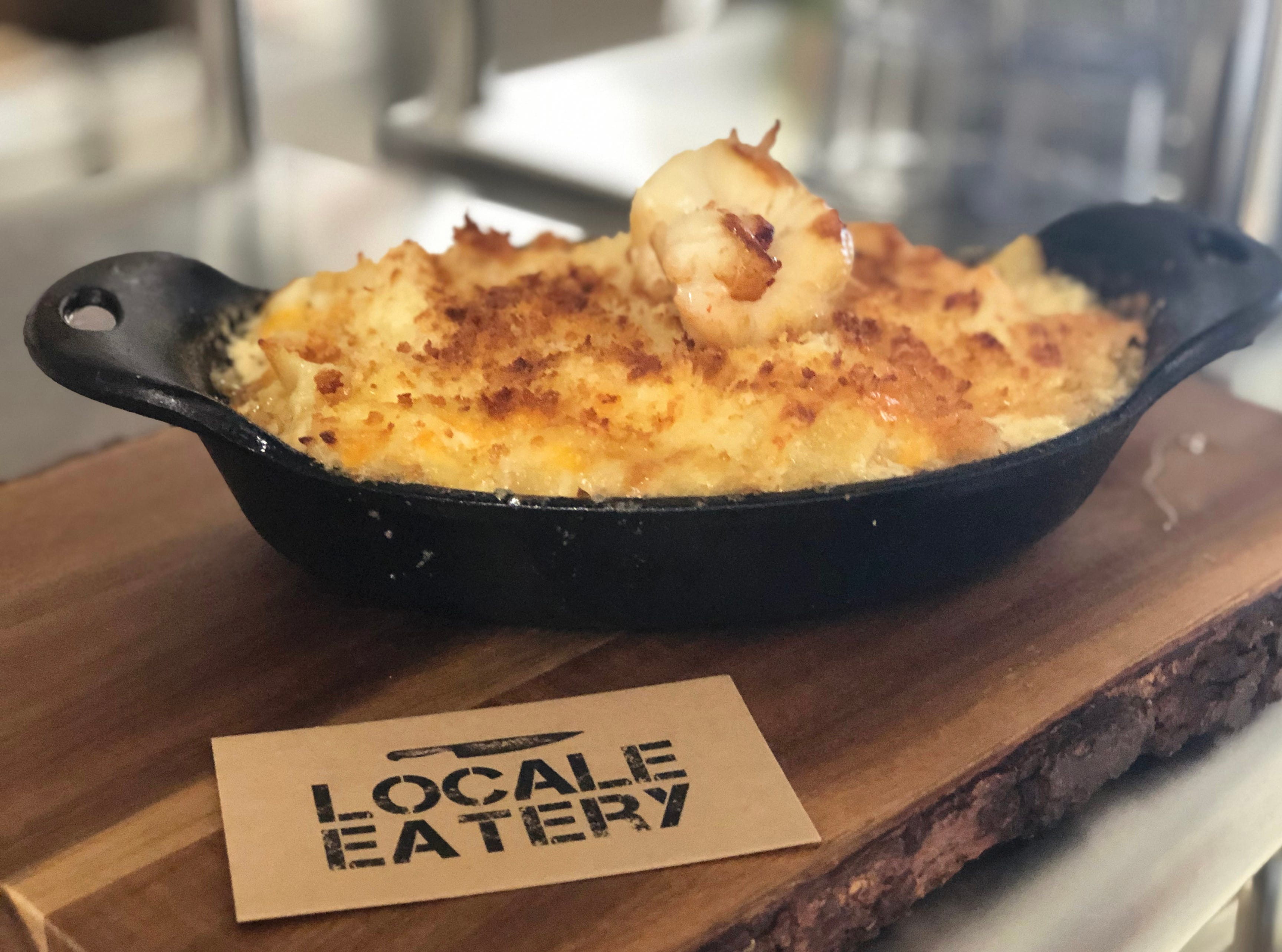 Lobster Mac N Cheese is made with a four-cheese blend at Locale Eatery in North Naples.