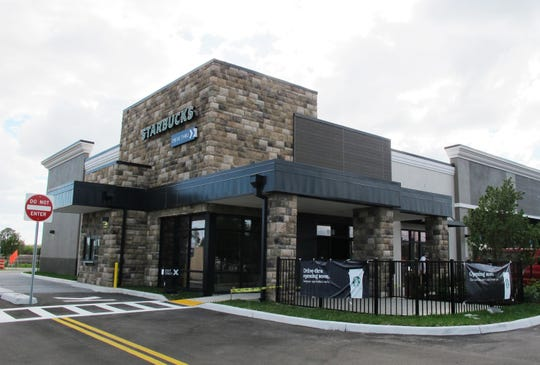 Starbucks opened a new drive-thru in March 2019 on the south side of Bonita Beach Road west of the Interstate 75 interchange in Bonita Springs.