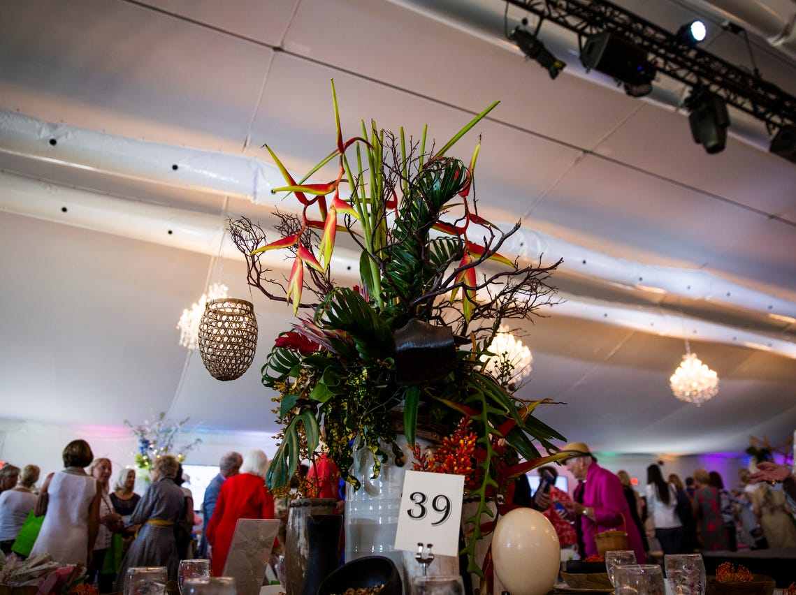 "Jett Thompson, a local designer, designed this table with the theme ""Safari"" for the League Club of Naples annual fundraiser at the Ritz-Carlton Golf Resort in Naples on March 11, 2019. Thompson said the table's design was inspired by her many trips to Africa."