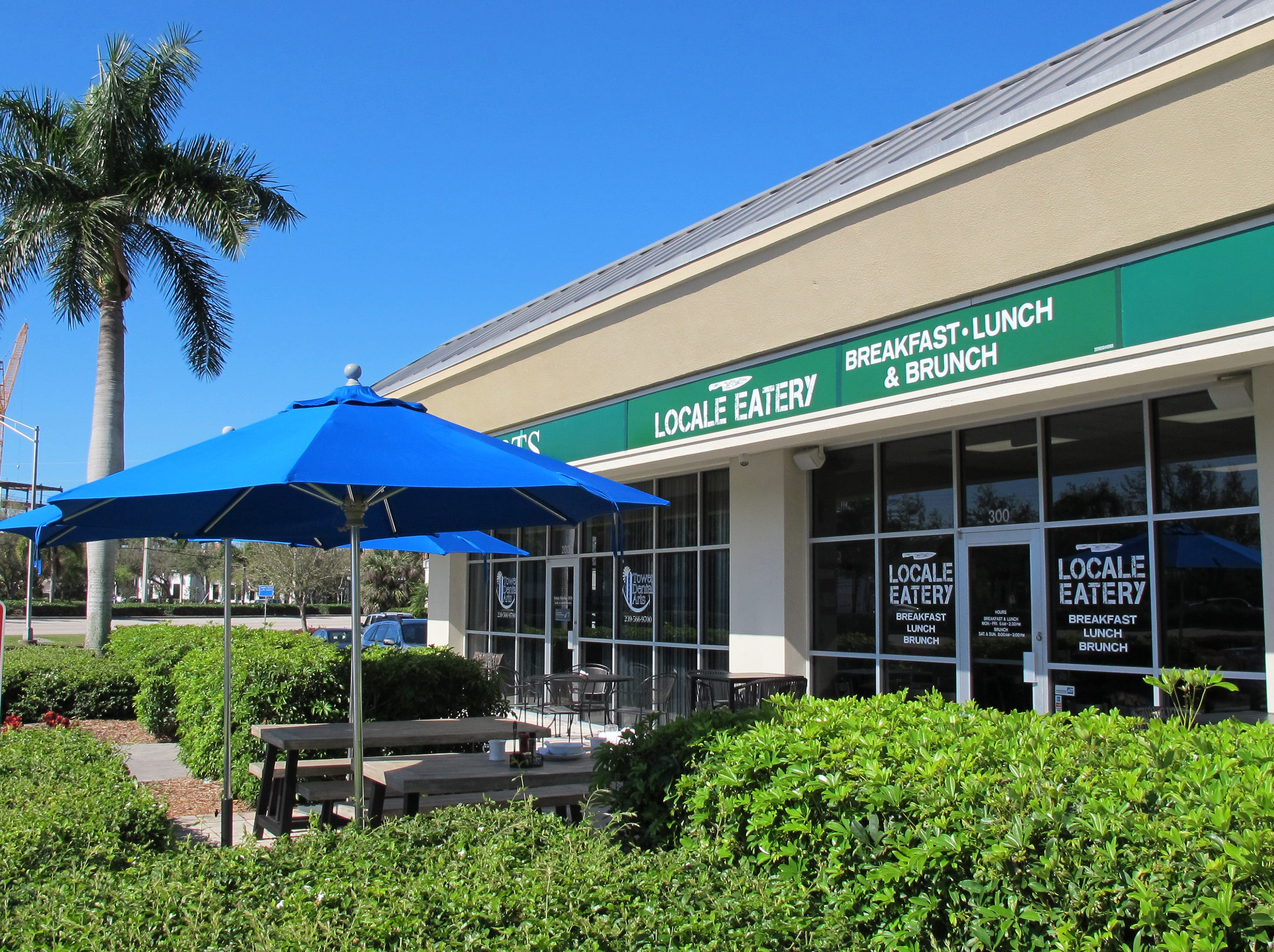 Locale Eatery opened in March 2019 in the former space of Sweet Caroline's near NCH North Naples Hospital campus where Goodlette-Frank Road ends at Immokalee Road.